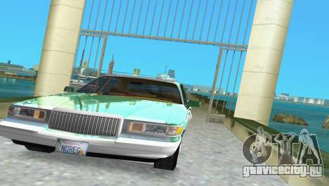 Lincoln Town Car 1997 для GTA Vice City вид сзади