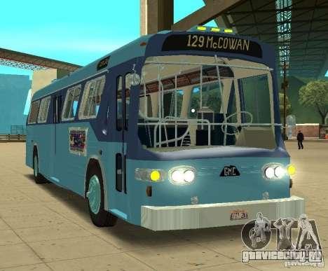 GMC Fishbowl City Bus 1976 для GTA San Andreas вид слева