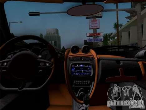 Pagani Huayra 2011 для GTA San Andreas вид сбоку