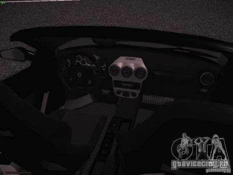Ferrari F430 Scuderia M16 для GTA San Andreas вид изнутри
