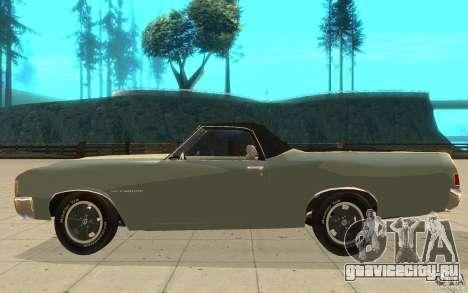 Chevrolet El Camino 1972 для GTA San Andreas вид слева