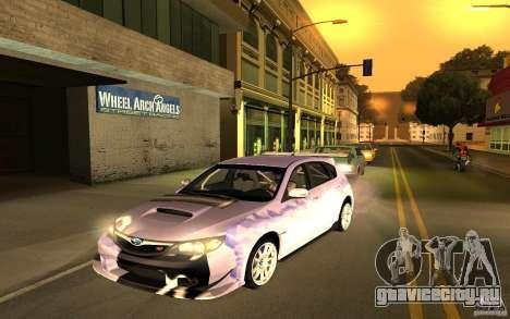 Subaru Impreza WRX STI 2008 Tunable для GTA San Andreas вид сзади