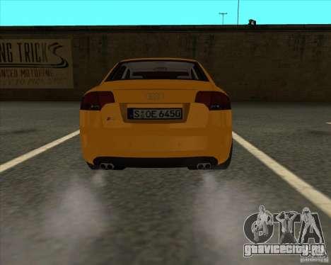 AUDI S4 Sport для GTA San Andreas вид сзади слева