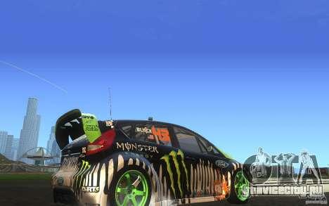 Ford Fiesta Gymkhana для GTA San Andreas вид сзади