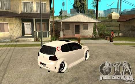 VW Golf 5 GTI Tuning для GTA San Andreas
