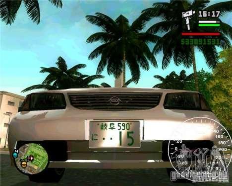 Nissan Sunny для GTA San Andreas вид справа