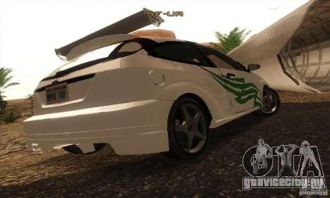 Ford Focus SVT TUNEABLE для GTA San Andreas вид сбоку