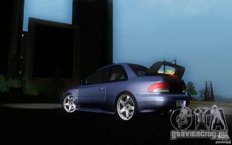 Subaru Impreza 22B для GTA San Andreas вид изнутри