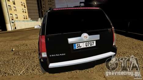 Cadillac Escalade 2007 v3.0 для GTA 4 вид сзади