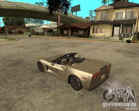 2005 Chevy Corvette C6 для GTA San Andreas вид слева
