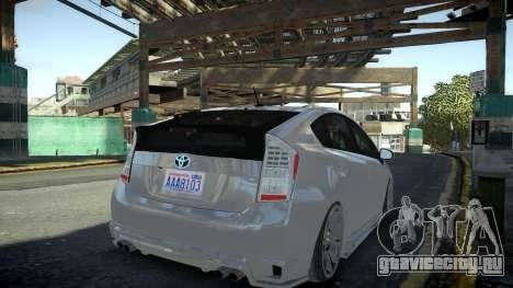 Toyota Prius III для GTA 4 вид слева