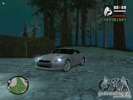 Nissan Skyline GTR для GTA San Andreas вид сзади слева