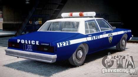 Chevrolet Impala Police 1983 [Final] для GTA 4 вид справа
