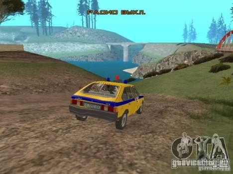 АЗЛК 2141 ГАИ для GTA San Andreas вид сбоку