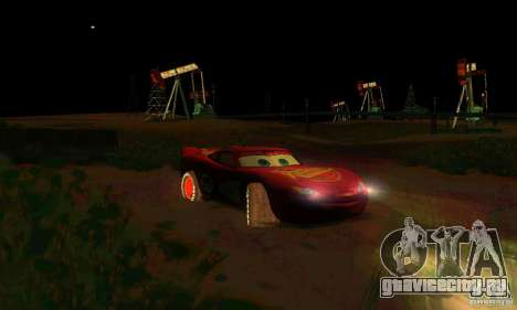 MCQUEEN from Cars для GTA San Andreas вид снизу
