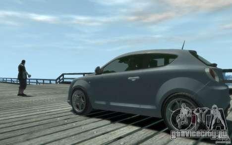 Alfa Romeo Mito для GTA 4 вид сзади слева