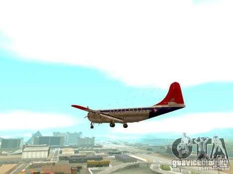 Boeing 377 Stratocruiser для GTA San Andreas вид сзади слева