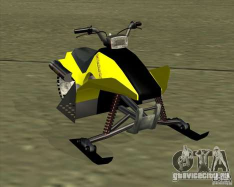 Snowmobile для GTA San Andreas вид сзади слева