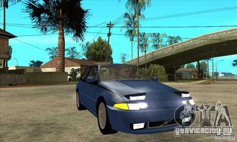 Volvo 480 Turbo для GTA San Andreas вид сзади