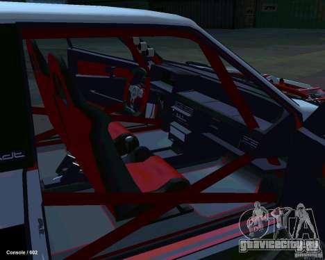 ВАЗ 2108 Драговая для GTA San Andreas вид изнутри