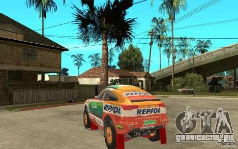 Mitsubishi Racing Lancer для GTA San Andreas вид сзади слева