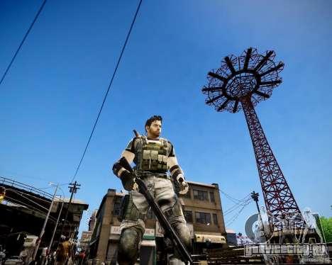 Chris from Resident Evil 5 для GTA 4 третий скриншот