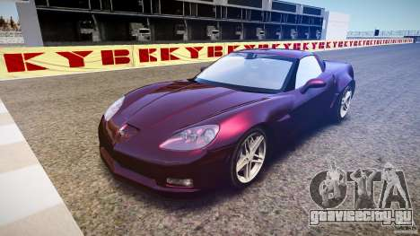 Chevrolet Corvette C6 Z06 для GTA 4 вид сзади