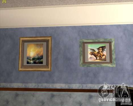 Картины в доме CJ для GTA San Andreas четвёртый скриншот