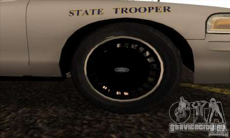 Ford Crown Alabama Police для GTA San Andreas вид справа