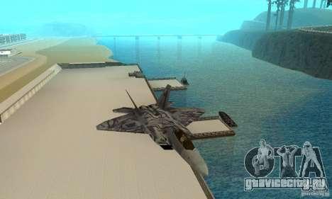 F-22 Starscream для GTA San Andreas вид сбоку