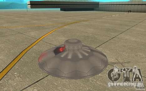 UFO Atack для GTA San Andreas вид сзади слева