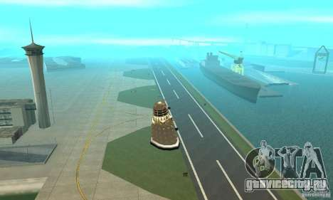 Dalek Doctor Who для GTA San Andreas вид изнутри