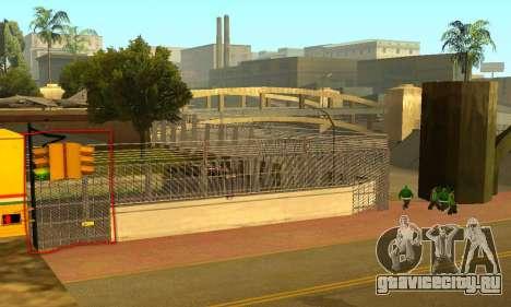 Забор вокруг Groоve Sreet для GTA San Andreas третий скриншот