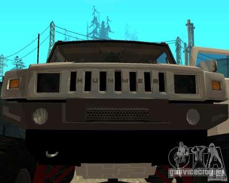 Hummer H2 MONSTER для GTA San Andreas вид сбоку