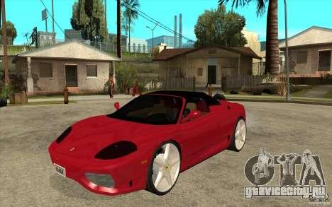 Ferrari 360 Spider для GTA San Andreas