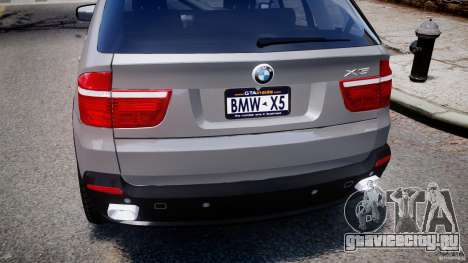 BMW X5 xDrive 4.8i 2009 v1.1 для GTA 4 вид снизу