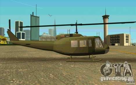 UH-1D Slick для GTA San Andreas вид сзади слева