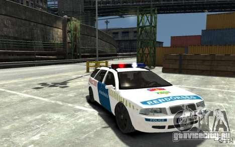 Skoda Octavia Kombi 2005 Hungarian Police для GTA 4 вид сзади