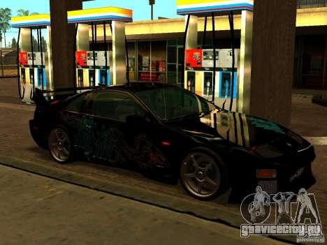 Nissan 300ZX для GTA San Andreas вид изнутри