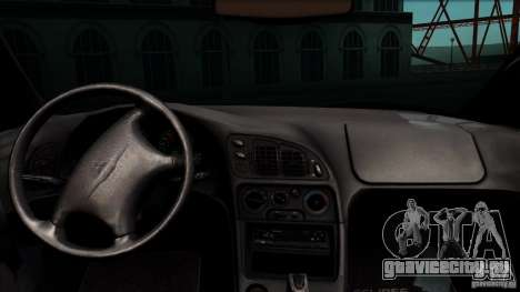 Mitsubishi Eclipse GSX 1999 для GTA San Andreas вид сзади
