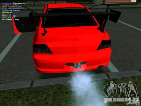Mitsubishi Lancer Drift для GTA San Andreas вид сзади слева