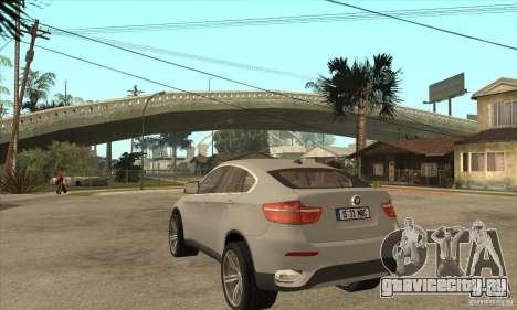 BMW X6 для GTA San Andreas вид сзади слева