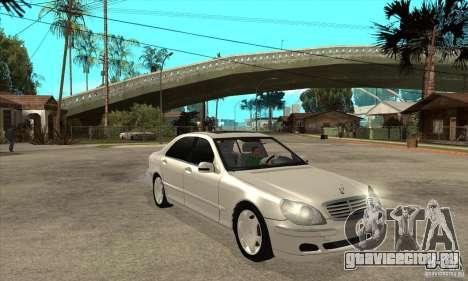 Mercedes Benz S600 для GTA San Andreas вид сзади
