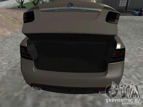 Saab 9-3 Turbo X для GTA San Andreas вид сзади