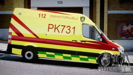 Mercedes-Benz Sprinter PK731 Ambulance [ELS] для GTA 4 вид изнутри