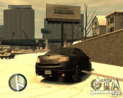 Ford Taurus Police Interceptor Stealth для GTA 4 вид сзади слева