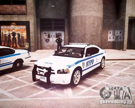 Dodge Charger 2010 NYPD ELS для GTA 4 вид слева
