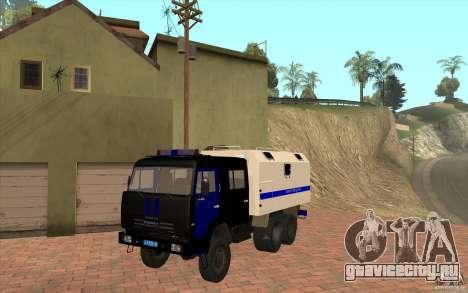 КамАЗ Милиция для GTA San Andreas вид слева