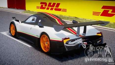 Pagani Zonda R 2009 Italian Stripes для GTA 4 вид сзади слева