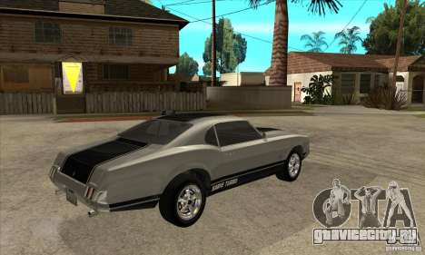 Sabre из GTA 4 для GTA San Andreas вид справа